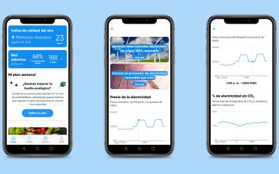 Ahora, con The Planet App, conoce en tiempo real el precio de la electricidad y sus emisiones asociadas